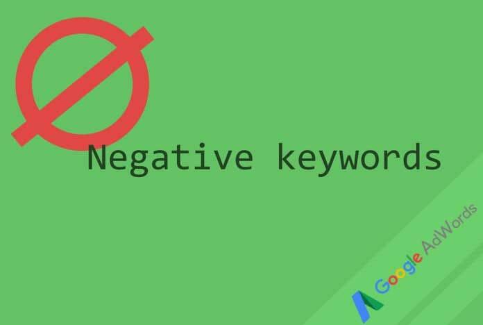 کلمات کلیدی منفی