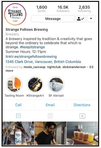 بیو اینستاگرام - Strange Fellows Brewing