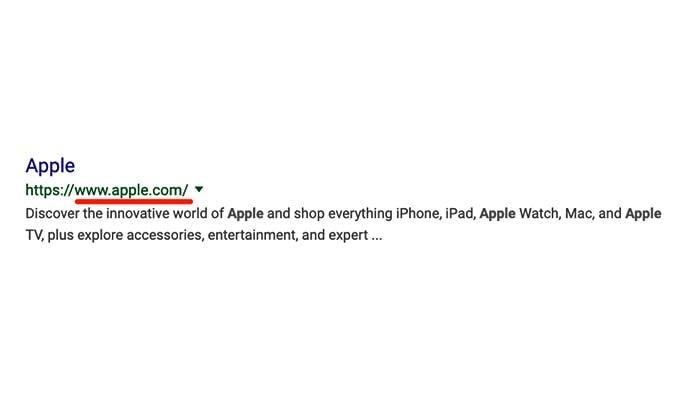 Hreflang چیست - apple official website