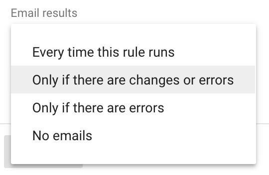 قوانین خودکار در Google Ads