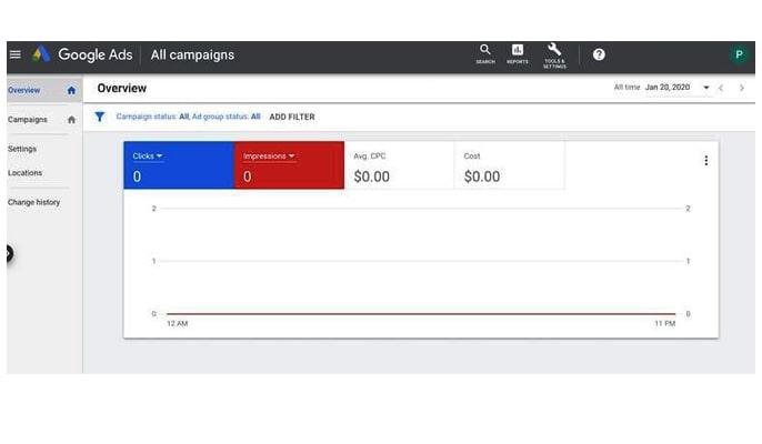 گوگل ادز چیست - صفحه اصلی اکانت