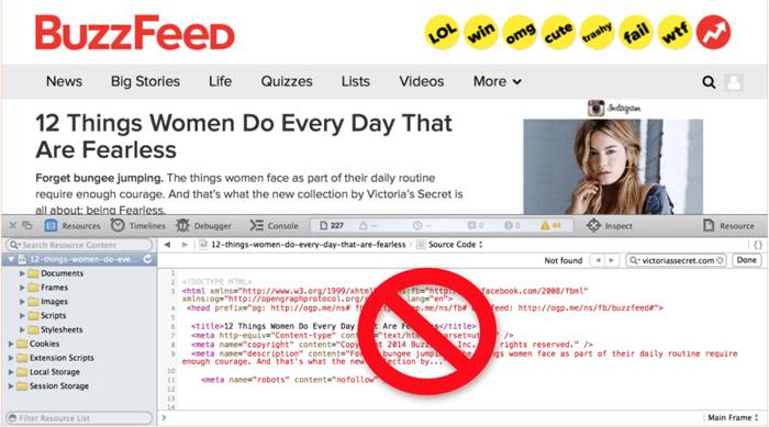 اشتباه بازاریابان محتوا - سایت buzzfeed