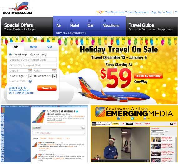 برند سازی آنلاین - خطوط هوایی جنوب غربی
