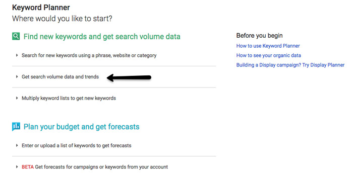 جستجوی کلمه کلیدی - Google's Keyword Planner