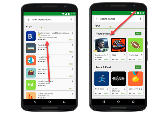 تبلیغات اپلیکیشن - آگهی تبلیغات اپلیکیشن گوگل در کجا نمایش داده می شود؟