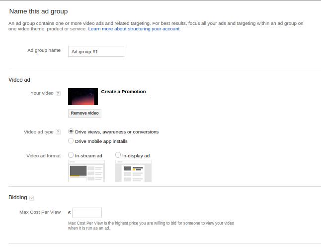تبلیغات یوتیوب - new this ad group