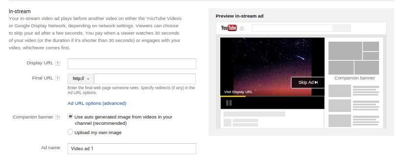 تبلیغات یوتیوب - in stream
