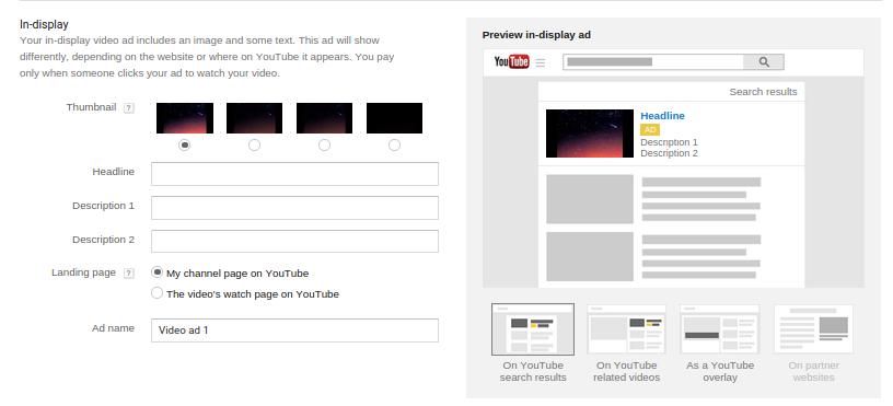 تبلیغات یوتیوب - indisplay