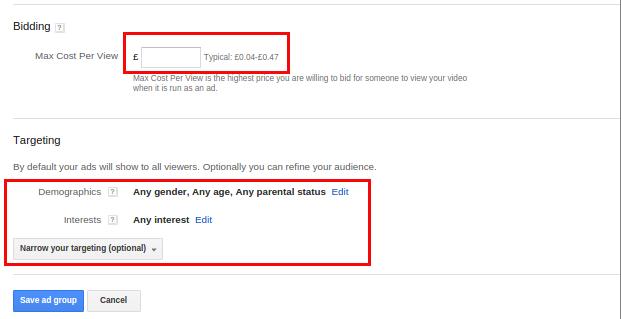 تبلیغات یوتیوب - Targeting
