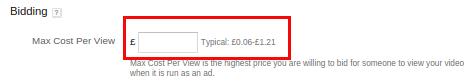 تبلیغات یوتیوب - max cost per view