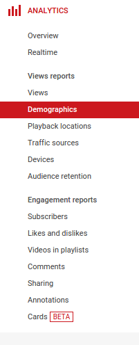 تبلیغات یوتیوب - analytics
