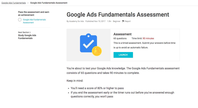 مدرک گوگل ادز - قبولی در آزمون اضافی