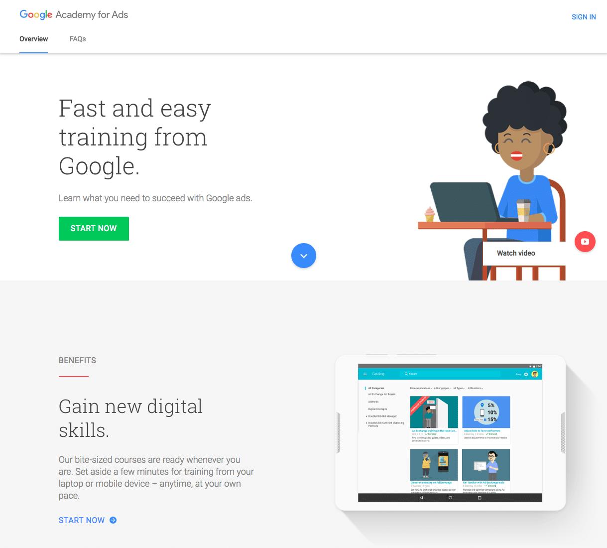 مدرک گوگل ادز - به آکادمی تبلیغات بپیوندید