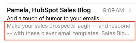طراحی ایمیل - مثالی از Preheader ایمیل
