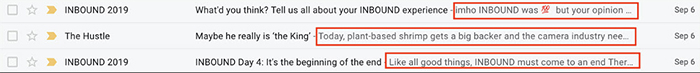 طراحی ایمیل - Preheader ایمیل