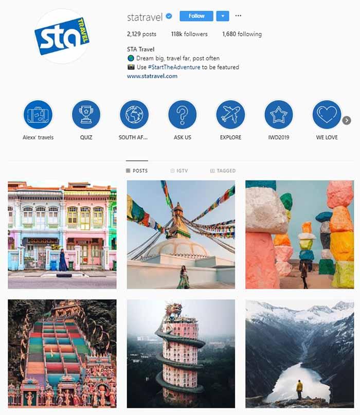 بازاریابی سفر در اینستاگرام