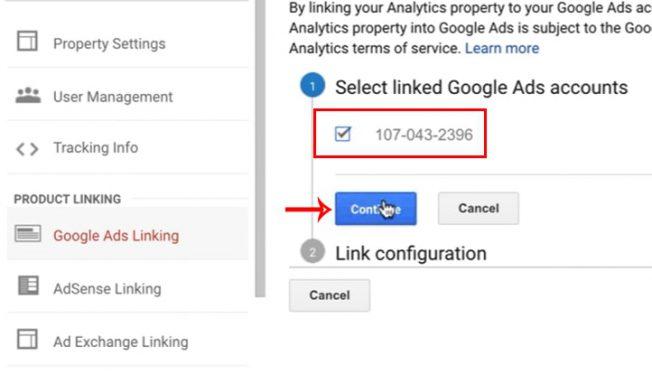 لینک کردن گوگل آنالیتیکس به گوگل ادوردز - Customer ID