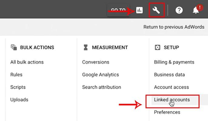 لینک کردن گوگل آنالیتیکس به گوگل ادوردز - Linked Accounts