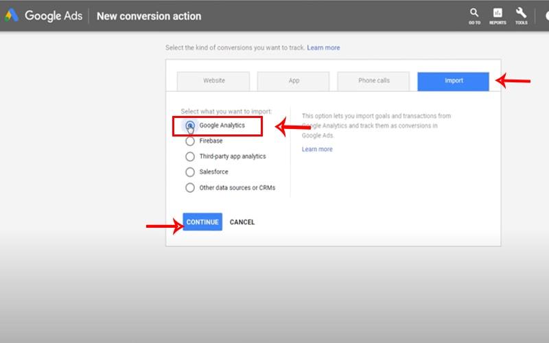 conversion tracking - ردیابی هدف ها از گوگل آنالیتیکس