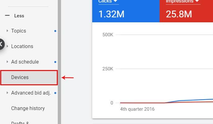 مدیریت هزینه ها در گوگل ادز - تنظیم تبلیغ ادوردز برای دستگاه خاص