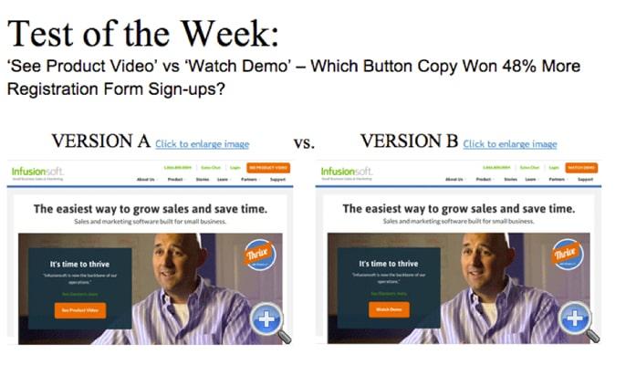 A/B تست - مثال عینی از سایت BEHAVE.org